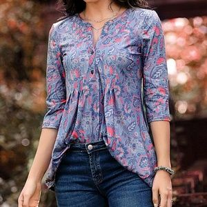 Paisley Notch neck top